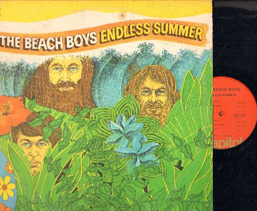 Beach Boys - Endless Summer: Surfin' Safari, Surfer Girl, I Get Around, California Girls, Help Me Rhonda, Fun Fun Fun (2 vinyl LP records, gate-fold cover) - VG7/EX8 - LP Records