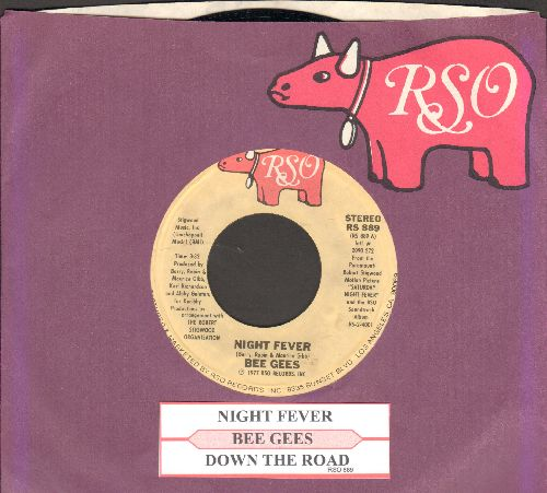 Bee Gees - Night Fever (DISCO FAVORITE!)/Down The Road (withjuke box label and RSO company sleeve) - NM9/ - 45 rpm Records