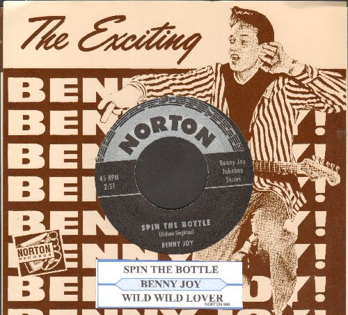 Joy, Benny - Spin The Bottle/Wild Wild Lover (re-issue of vintage recordings, with juke box label and picture sleeve) - M10/NM9 - 45 rpm Records