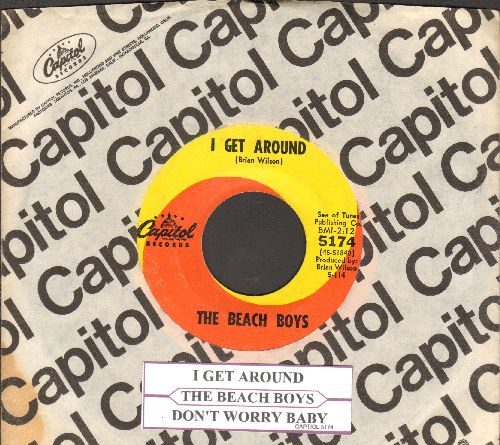 Beach Boys - I Get Around/Don't Worry Baby (with juke box label and Capitol company sleeve) - EX8/ - 45 rpm Records