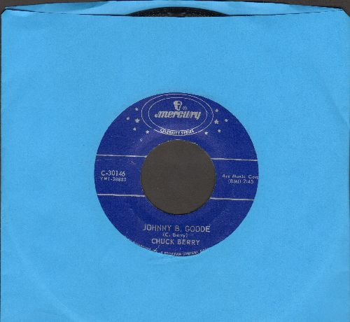 Berry, Chuck - Johnny B. Goode/Rock And Roll Music (double-hit re-issue) - NM9/ - 45 rpm Records