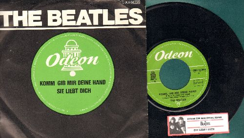 Beatles - Komm gib mir deine Hand/Sie liebt dich (German Pressing, 1976 re-issue with juke box label and picture sleeve) - NM9/NM9 - 45 rpm Records