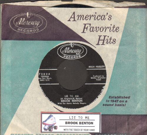 Benton, Brook - Lie To Me/With The Touch Of Your Hand (with juke box label and Mercury company sleeve) - NM9/ - 45 rpm Records