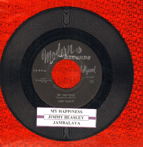 Beasley, Jimmy - Jambalaya/My Happiness (with juke box label) - EX8/ - 45 rpm Records
