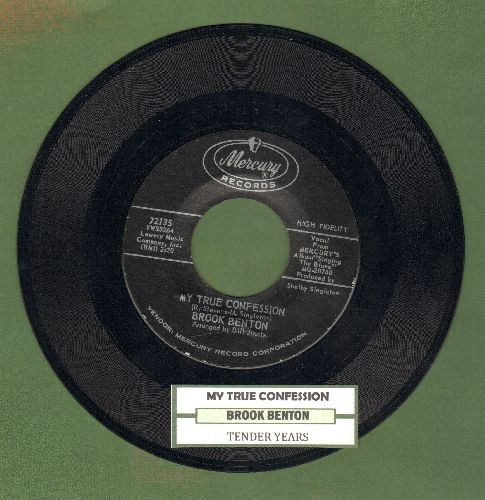 Benton, Brook - My True Confession/tender Years (with juke box label) - NM9/ - 45 rpm Records