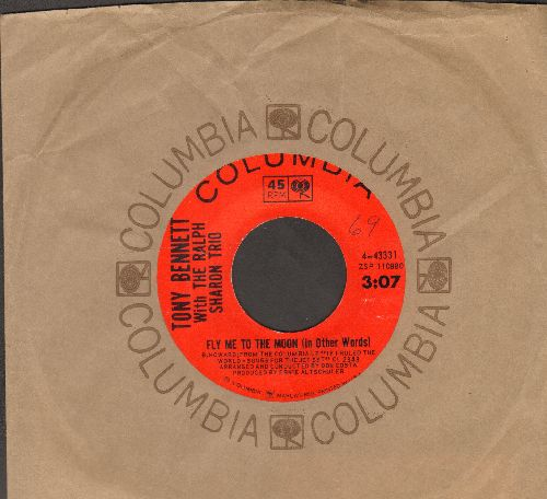 Bennett, Tony - Fly Me To The Moon (In Other Words)/How Insensitive ( Columbia company sleeve) - NM9/ - 45 rpm Records