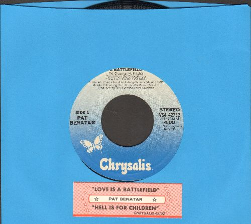 Benatar, Pat - Love Is A Battlefield/Hell Is For Children (LIVE) (with juke box label) - VG7/ - 45 rpm Records