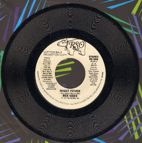 Bee Gees - Night Fever (DISCO FAVORITE! - double-A-sided DJ advance pressing) - VG7/ - 45 rpm Records
