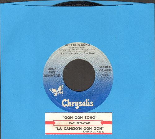 Benatar, Pat - Ooh Ooh Songs/La Cancion Ooh Ooh (with juke box label) - EX8/ - 45 rpm Records