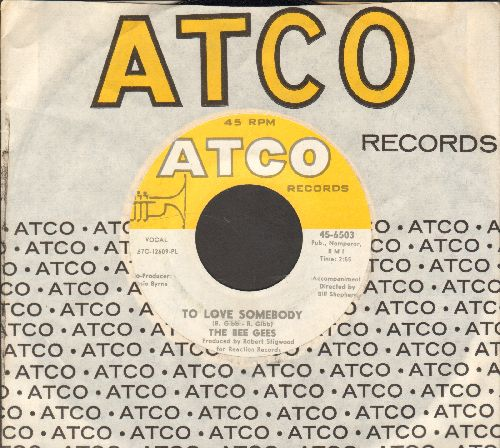 Bee Gees - To Love Somebody/Close Another Door (with vintage Atco company sleeve) - NM9/ - 45 rpm Records