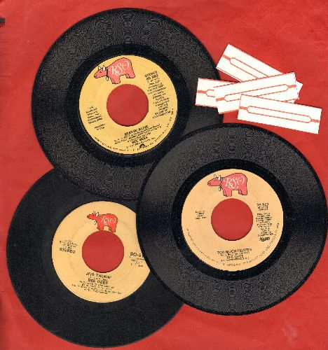 Bee Gees - 3-Pack of first issue 45s includes hits Jive Talkin', Stayin' Alive and Too Much Heaven. Shipped in plain paper sleeves with 4 blnak juke box labels. - VG7/ - 45 rpm Records