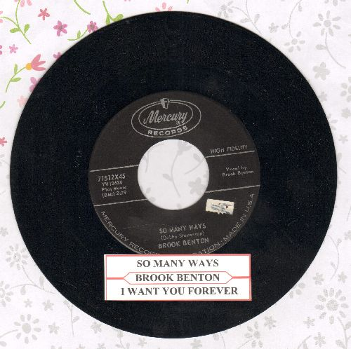 Benton, Brook - So Many Ways/I Want You Forever (with juke box label) - VG7/ - 45 rpm Records
