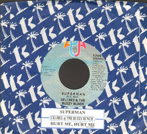 Celi Bee & The Buzzy Bunch - Superman (DISCO-FAVORITE!)/Hurt Me, Hurt Me (with company sleeve and juke box label) - NM9/ - 45 rpm Records