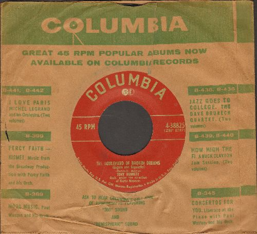 Bennett, Tony - The Boulevard Of Broken Dreams/ (Gigolo and Gigolette)/I Wanna Be Loved (1950 first pressing with vintage Columbia company sleeve) - EX8/ - 45 rpm Records