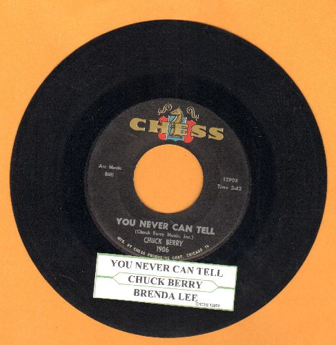 Berry, Chuck - You Never Can Tell/Brenda Lee (with juke box label) - EX8/ - 45 rpm Records