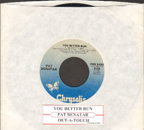 Benatar, Pat - You Better Run/Out-A-Touch (with juke box label) - VG7/ - 45 rpm Records