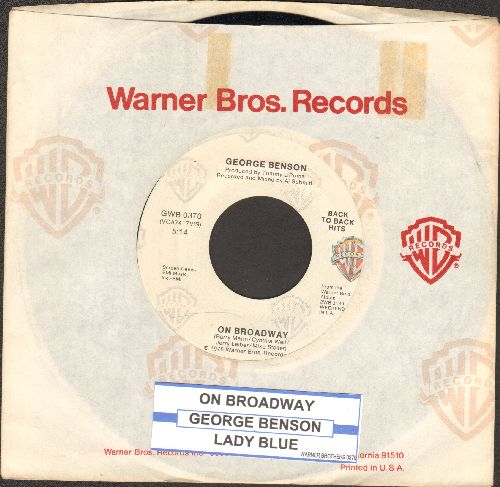 Benson, George - On Broadway/Lady Blue (authentic-looking double-hit re-issue) (with Warner Brothers company sleeve and juke box label) - NM9/ - 45 rpm Records