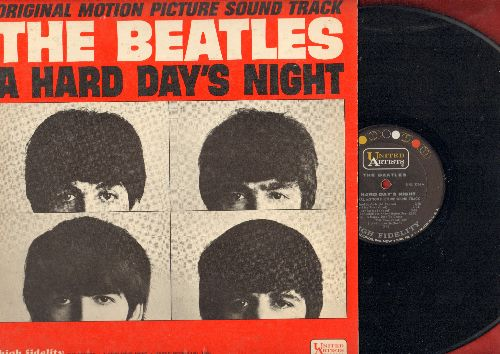 Beatles - A Hard Day's Night: Tell Me Why, I Should Have Known Better, Can't Buy Me Love, And I Love Her, I'm Happy Just To Dance With You (Vinyl MONO LP record) - EX8/EX8 - LP Records