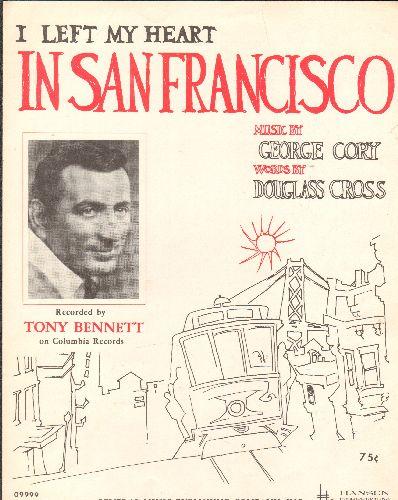 Bennett, Tony - I Left My Heart In San Francisco - Vintage SHEET MUSIC for Tony Bennett's Signature Song (NICE cover art!) - NM9/ - Sheet Music