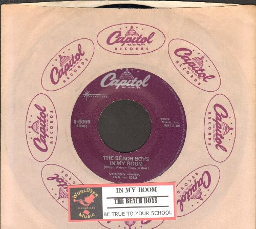 Beach Boys - In My Room/Be True To Your School (double-hit re-issue with juke box label and Capitol company sleeve) - NM9/ - 45 rpm Records