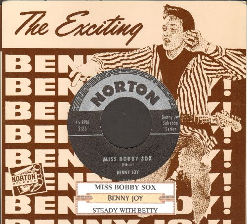 Joy, Benny - Miss Bobby Sox/Steady With Betty (re-issue of RARE vintage Rock-A-Billy recordings with picyure sleeve and juke box label) - M10/ - 45 rpm Records