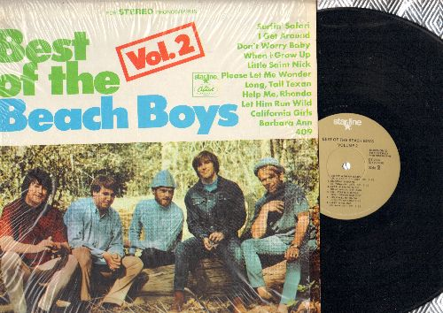 Beach Boys - Best Of The Beach Boys Vol. 2: Surfin' Safari, I Get Around, Little Saint Nick, California Girls, Help Me Rhonda (vinyl STEREO LP record,  1980s pressing) - EX8/NM9 - LP Records