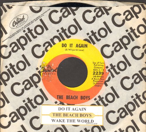 Beach Boys - Do It Again/Wake The World (with juke box label and company sleeve) - EX8/ - 45 rpm Records