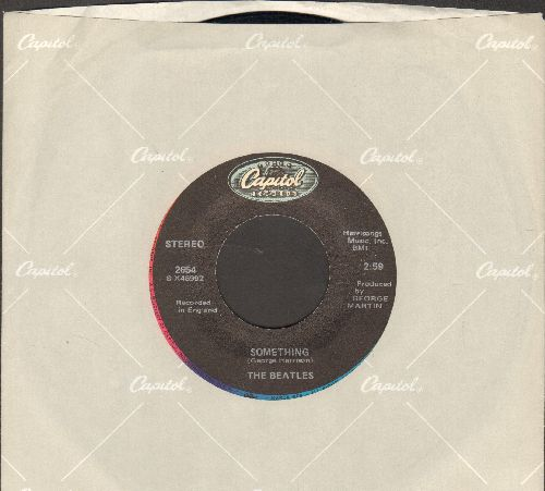 Beatles - Something/Come Together (double-hit re-issue with Capitol company sleeve) - VG7/ - 45 rpm Records