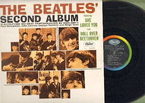 Beatles - The Beatles' Second Album: She Loves You, Roll Over beethoven, Money, Please Mr. Postman, I'll Get You (vinyl MONO LP record) - VG7/EX8 - LP Records