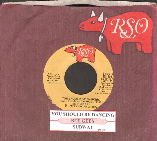 Bee Gees - You Should Be Dancing/Subway (with juke box label RSO company sleeve) - NM9/ - 45 rpm Records