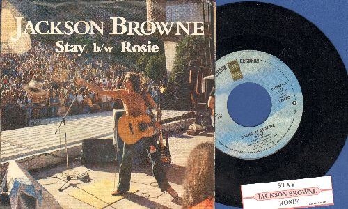 Browne, Jackson - Stay/Rosie (with juke box label and picture sleeve) - NM9/NM9 - 45 rpm Records