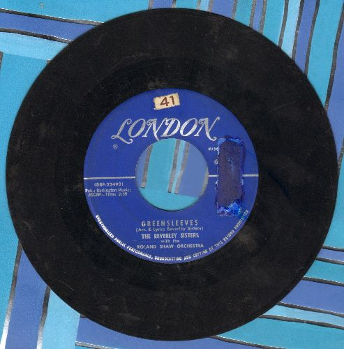 Beverly Sisters - Greensleeves/I'll See You In My Dreams - VG7/ - 45 rpm Records