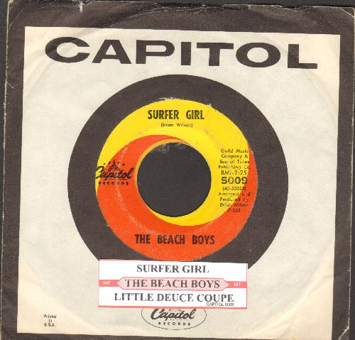 Beach Boys - Surfer Girl/Little Deuce Coupe (with Capitol company sleeve and juke box label) - VG7/ - 45 rpm Records