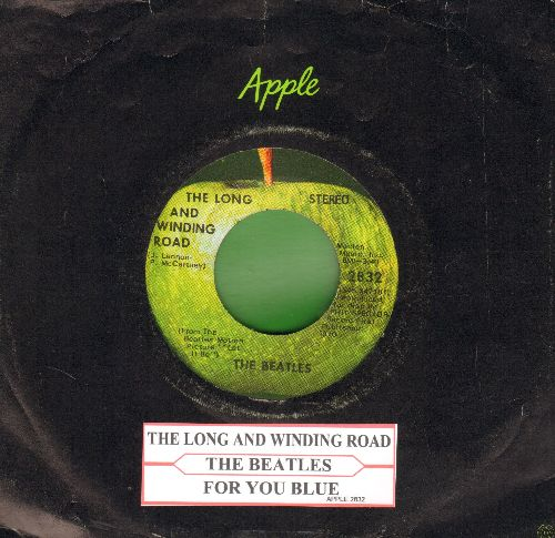 Beatles - The Long And Winding Road/For You Blue (with juke box label Apple company sleeve) - EX8/ - 45 rpm Records