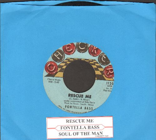 Bass, Fontella - Rescue Me/Soul Of The Man (RARE Checker Board label early pressing with juke box label) - VG7/ - 45 rpm Records