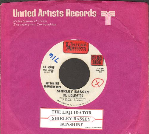 Bassey, Shirley - The Liquidator/Shunshine  (DJ advance pressing with juke box label United Artists company sleeve, wol) - NM9/ - 45 rpm Records
