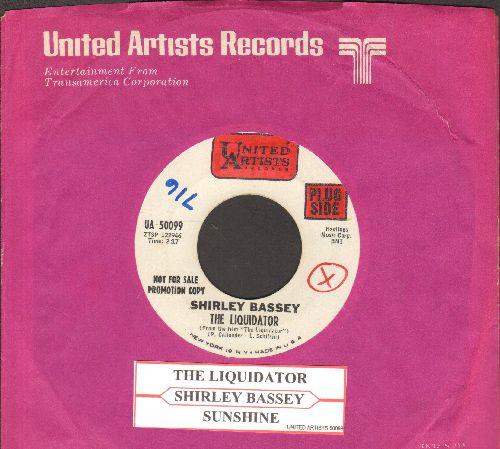 Bassey, Shirley - The Liquidator/Shunshine  (DJ advance pressing with juke box label United Artists company sleeve, wol) - NM9/ - 45 rpm Records