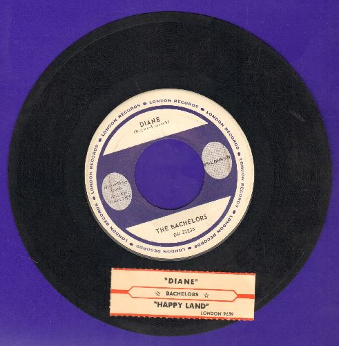 Bachelors - Diane/Happy Land (with juke box label) - NM9/ - 45 rpm Records