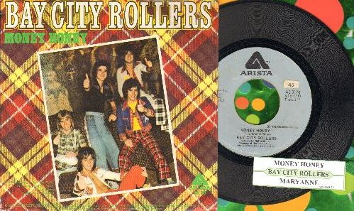 Bay City Rollers - Money Honey/Maryanne (with picture sleeve and juke box label) - EX8/EX8 - 45 rpm Records
