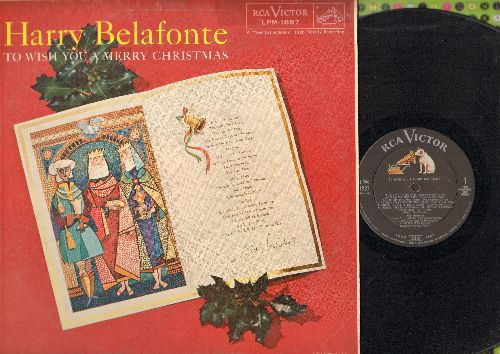 Belafonte, Harry - To Wish You A Merry Christmas: The Twelve Days Of Christmas, Deck The Hall, Silent Night, The First Noel (Vinyl MONO LP record) - EX8/VG7 - LP Records