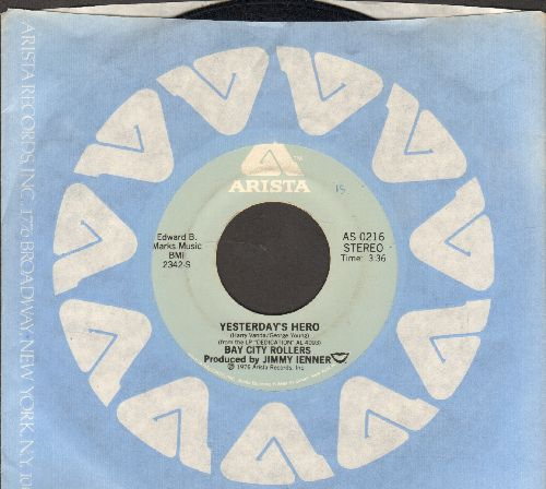 Bay City Rollers - Yesterday's Hero/My Lisa (with Arista company sleeve) - NM9/ - 45 rpm Records