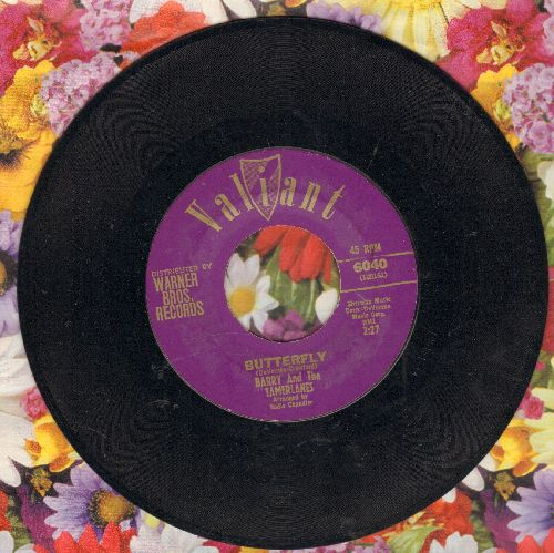 Barry & The Tamberlanes - Butterfly/Roberta - EX8/ - 45 rpm Records