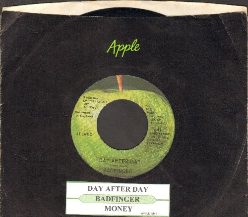 Badfinger - Day After Day/Money (NICE condition with juke box label and Apple company sleeve!) - NM9/ - 45 rpm Records