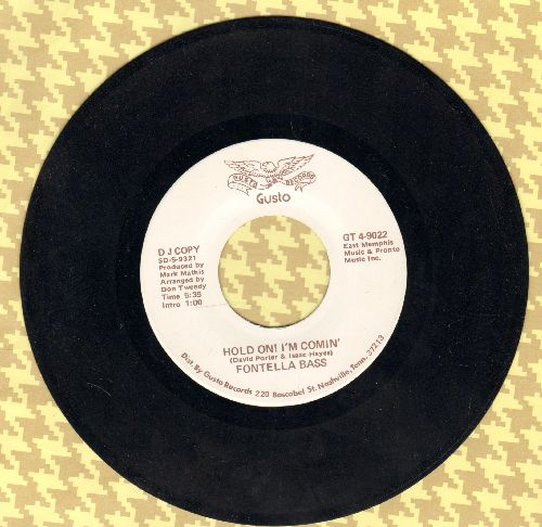 Bass, Fontella - Hold On! I'm Comin' (double-A-sided DJ advance pressing) - NM9/ - 45 rpm Records