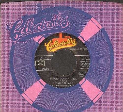 Ballard, Hank & The Midnighters - Finger Poppin' Time/Let's Go, Let's Go, Let's Go (double-hit re-issue with company sleeve) - NM9/ - 45 rpm Records