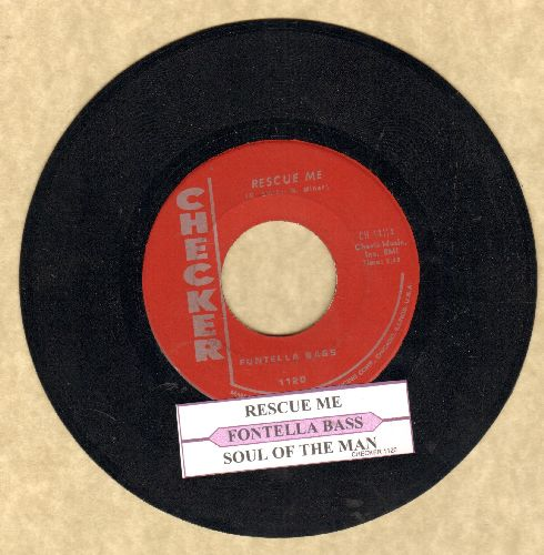 Bass, Fontella - Rescue Me/Soul Of The Man (red label pressing with juke box label) - NM9/ - 45 rpm Records