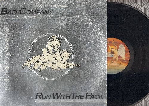Bad Company - Run With The Pack: Live For The Music, Young Blood, Silver Blue & Gold, Fade Away (vinyl STEREO LP record, gate-fold cover) - NM9/EX8 - LP Records
