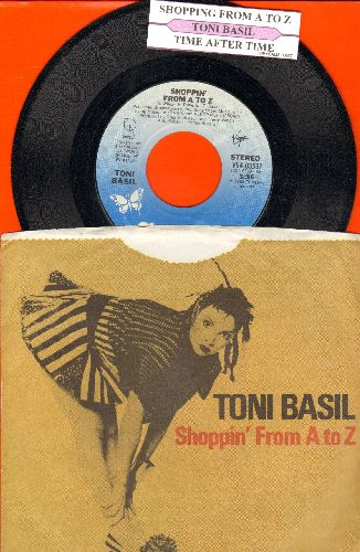 Basil, Toni - Shopping From A To Z/Time After Time (with juke box label and picture sleeve) - NM9/NM9 - 45 rpm Records