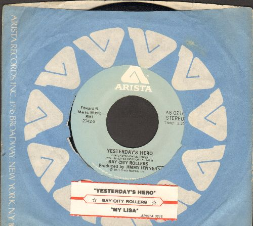 Bay City Rollers - Yesterday's Hero/My Lisa (with Arista company sleeve and juke box label) - NM9/ - 45 rpm Records