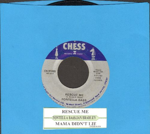 Bass, Fontella - Rescue Me/Mama Didn't Lie (by Jan Bradley on flip-side) (re-issue with juke box label) - EX8/ - 45 rpm Records